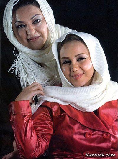 عکس بهنوش بختیاری در کنار مادر خود