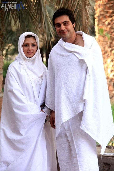 عکس نیوشا ضیغمی و همسرش در مکه