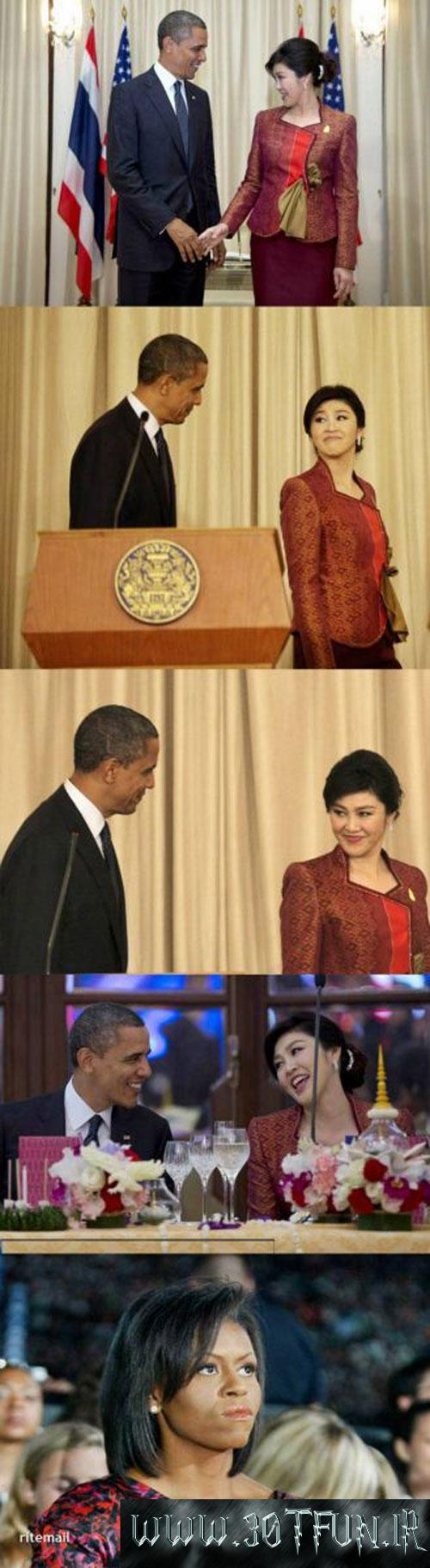 عکس دختر برهنه در بغل گلزار؟+کار زشت اوباما! 1