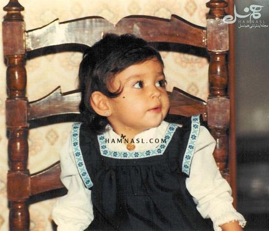 عکس کودکی پرستو صالحی