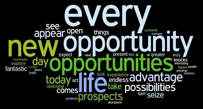 فرصت های خود را ایجاد کنید OPPORTUNITY