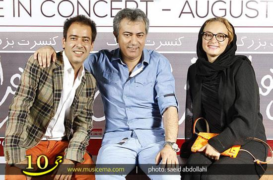 چهره های سرشناس و بازیگران مشهور در کنسرت محمدرضا هدایتی  عکس