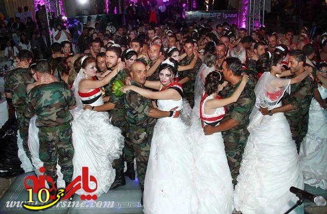 عکس/ عروسی گروهی افسران ارتش سوریه