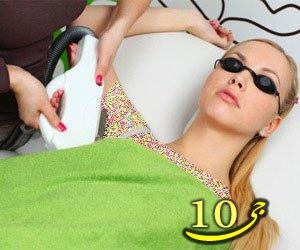 روش های حذف موهای زائد اطراف سینه