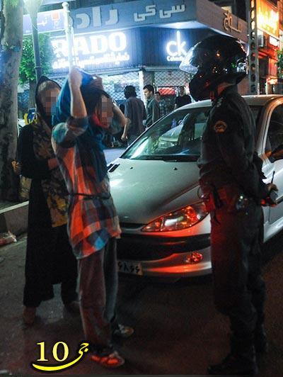 اوج بد حجابی دختر ایرانی در هنگام رانندگی+عکس