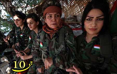 پیوستن زنان کُرد ایرانی به پیشمرگههای عراقی!   تصاویر