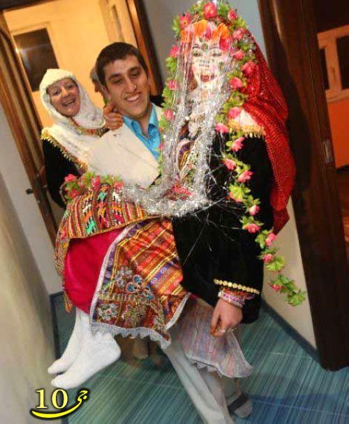 عروسیهای مسلمان بلتغاری با آرایشهای عجیب  عکس