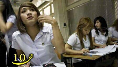 عکس هایی جالب از دانشجوهای دوجنسه تایلند