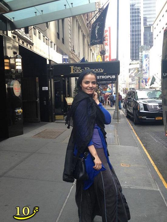 پوشش بازیگر زن ایرانی در خارج +تصاویر