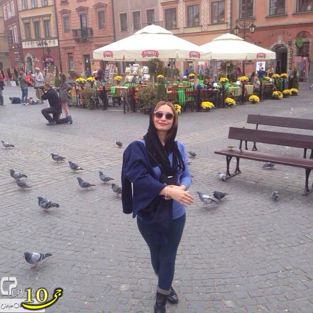 عکس های جدید مریم کاویانی در ورشو لهستان