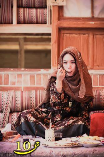 عکس هایی از تیپ های ایرانی یک دختر چینی در ایران
