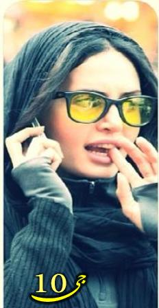 تیپ جدید الناز شاکردوست با عینک زرد +تصاویر