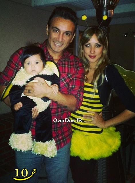 عکس جدید شادمهر و خانواده اش در شب هالووین