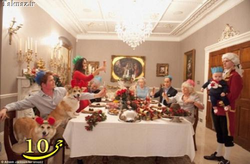 تصاویری از جشن خانواده سلطنتی بریتانیا قبل از کریسمس