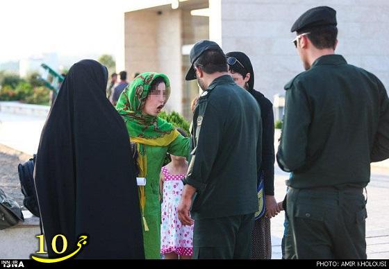 درگیری خانم بدحجاب با گشت ارشاد!/تصاویر