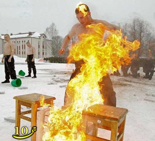 تمرینات نظامی خطرناک و سخت روسی ها (عکس)