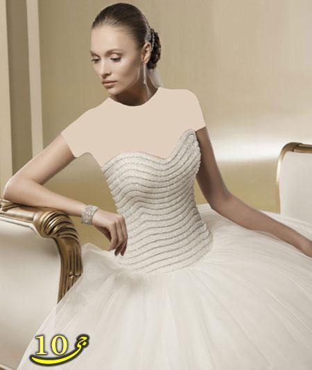 مدل لباس عروس پرنسسی جدید ،برند NICOLE