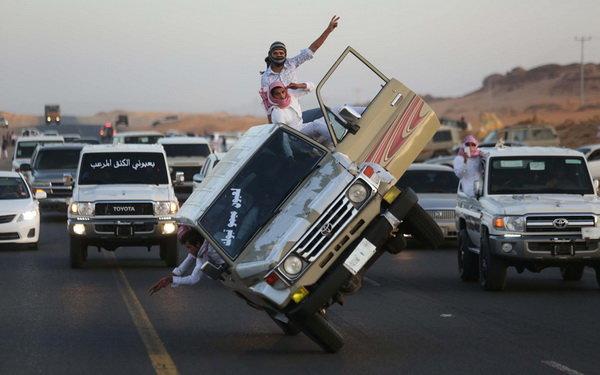 عکس/ ماشین بازی عجیب عربستانی ها