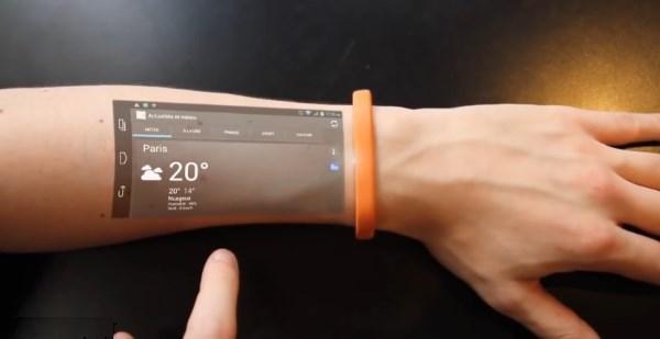 دستبند Cicret ساعد شما را تبدیل به تلفن همراه هوشمندتان می کند