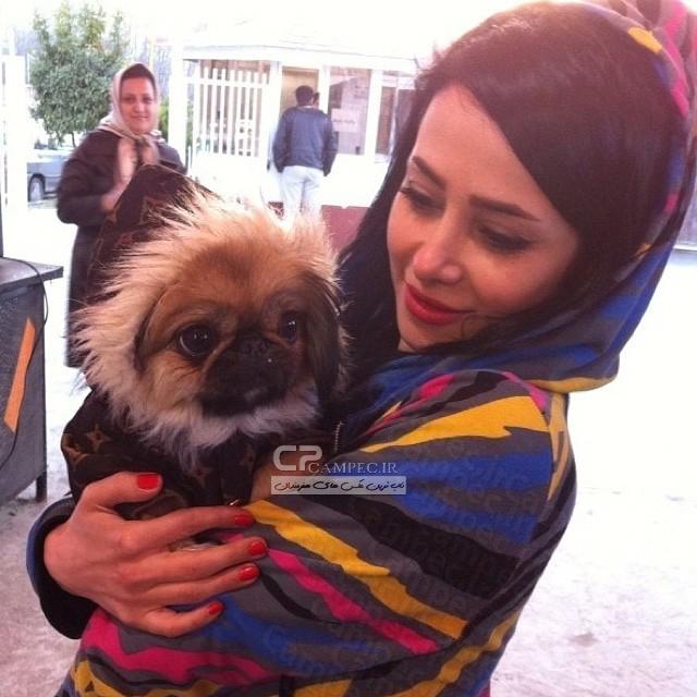 عکسی دیدنی از الناز حبیبی و سگش