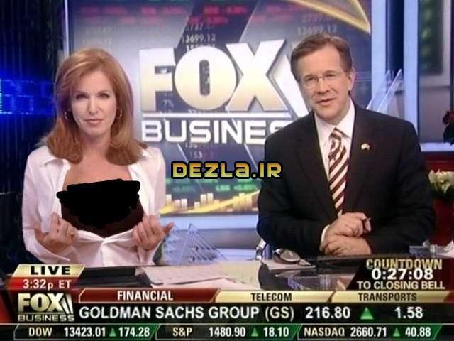 خانم مجری که سینه اش را جلوی دوربین نشان داد ! / عکس