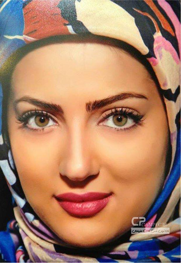 عکس جالب هلیا امامی با سپر و کلاه خود !!