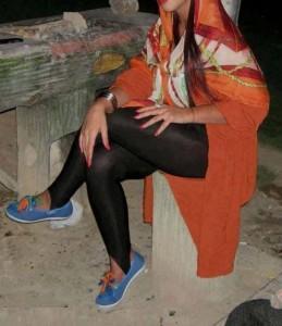 عکس خفن دختر ساپورت پوش تهرانی