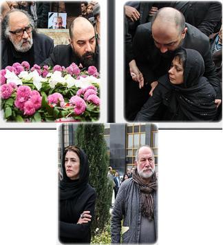 عکس های مراسم تشییع پیکر مرحوم انوشیروان ارجمند