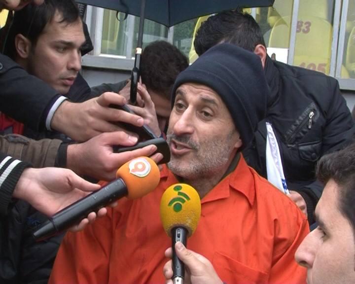 شرط علی دایی برای آزادی مایلی کهن   عکس های انتقال مایلی کهن به زندان