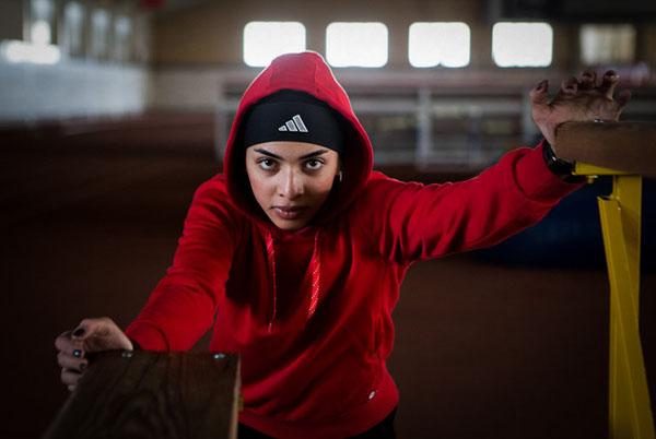 تمرینات دختر سرعت ایران در قاندومی بندرترکمن