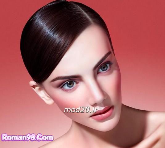 مدل های ارایش صورت،لاک ناخن،رنگ مو به رنگ سال 94 و 2015 رنگ عنابی