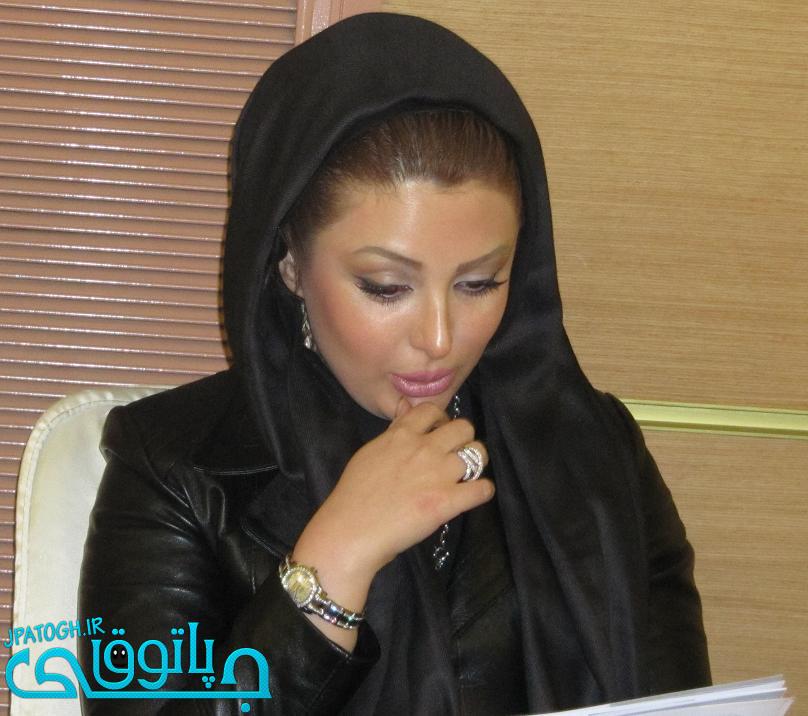 آبگوشت خوری نیوشا ضیغمی با همسرش +عکس