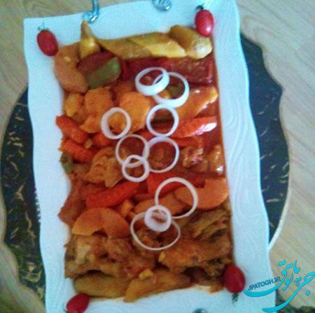 آموزش پخت تاس کباب با مرغ یا گوشت