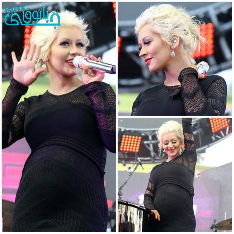 کنسرت خواننده زن زیبا در دوران بارداری !+عکس