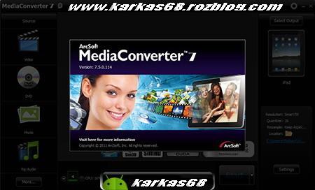 مبدل قدرتمند Arcsoft MediaConverter v7.5
