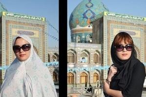 عکس های جالب دختران ایرانی با چادر و بدون چادر!