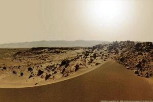 تصاویری از غروب خورشید در مریخ!!