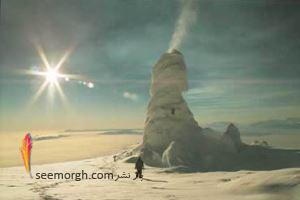 کوه آتشفشان یخی دیده بودید؟!! / تصاویر