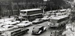 ترافیک خیابان ولیعصر در سال1340/ عکس