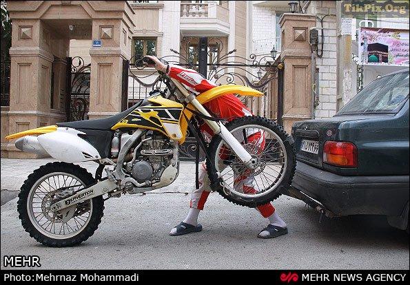 عکس های از دختر موتورسوار حرفه ای ایرانی-خبرچین