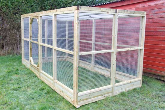 for Enclosed chicken run plans