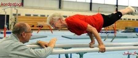 این مادر بزرگ ۸۵ ساله پیرترین ژیمناستیک باز دنیاست