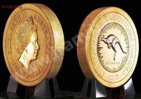 بزرگترین و سنگین ترین سکه طلای جهان به وزن ۱۰۰۰ کیلو