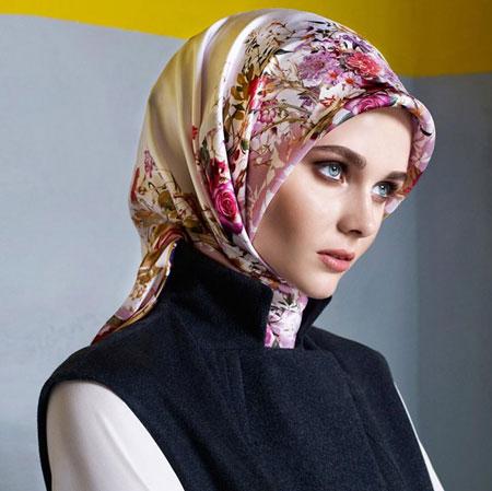مدل روسری ساتن ترک