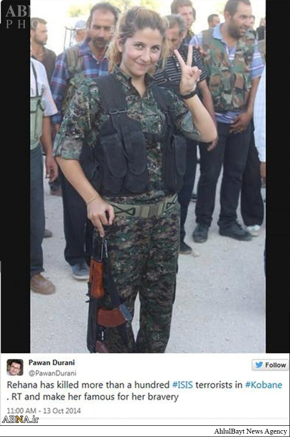 دختری که ۱۰۰ داعشی را کشت+عکس