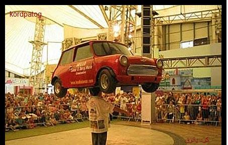 رکورد گینس بلند کردن وزنه با سر