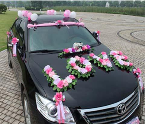 جدیدترین مدل های گل آرایی ماشین عروس