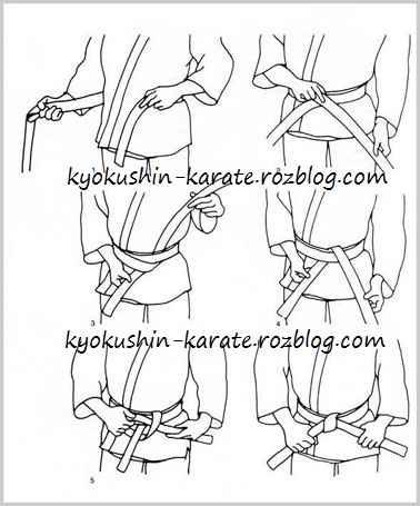 بستن کمربند کیوکوشین کاراته