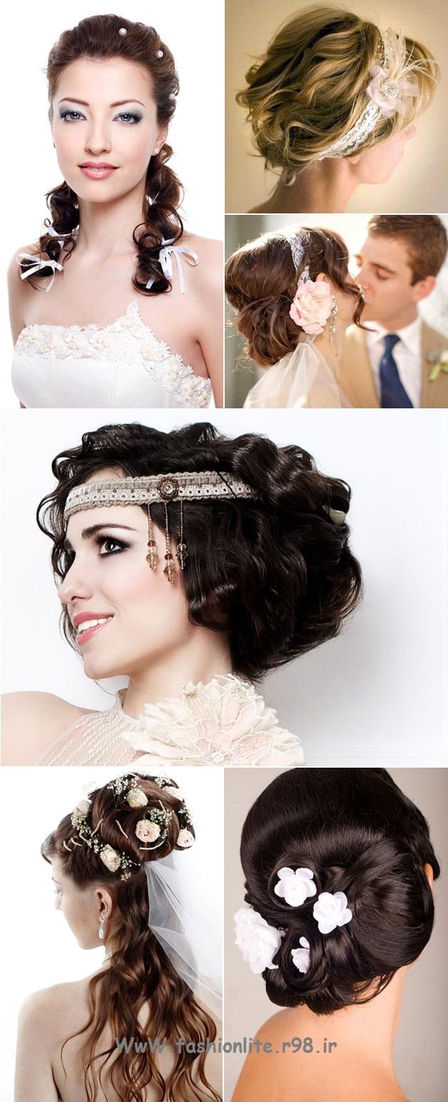 کانال لباس خانگی پوشیده » مدل موی عروس با کیفیت عکس بالا ۲۰۱۳