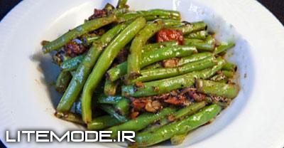 طرز تهیه ی لوبیا سبز تند - غذای هندی